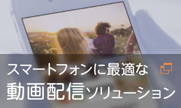 スマートフォンに最適な動画配信ソリューション